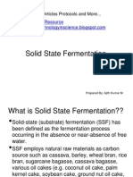 Solid State Fermentation / Solid Substrate Fermentation