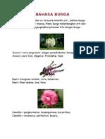 Bahasa Bunga