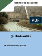 34a Hydrotehnilised rajatised