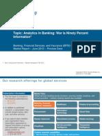 Analytics in Banking