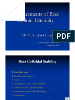 Beer Colloidal Stability
