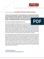 Press Release_Europe Clothing B2C E-Commerce Report 2013