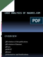 Case Analysis of Naukri.com
