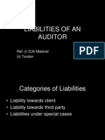 Liabilities of an Auditor (New)