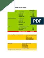 Simplified GSM Link Budget