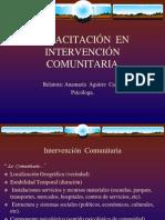 CAPACITACIÓN EN INTERVENCIÓN COMUNITARIA