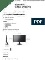 20'' Monitor Led s20a300n - Especificaciones _ Samsung