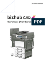Bizhub c252 Print Oper User Guide