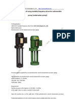 Application Case of Using Variable Frequency Drive for Submersible Pump