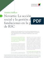 Novartis La acción social y la gestión de fundaciones en la política de RSC
