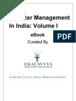 Diaster Management in India Vo. I