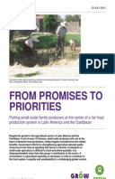 From Promises to Priorities: Putting small-scale, family producers at the centre of a fair food production system in Latin America and the Caribbean
