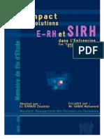L'impact des solutions E-RH et SIRH dans l'entreprise -