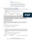 High Quality Pm Activity 2 Alignment of Outputs and Outcomes ANSWER KEY