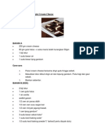 Kek Coklat Kukus Lapis Cream Cheese