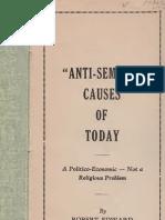 Edmondson Robert Edward - Anti-Semitic Causes of Today