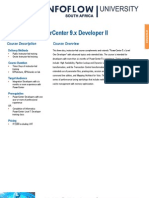 Informatica PowerCenter 9x Developer II Training Data SheetAX