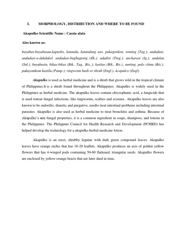 research paper about akapulko