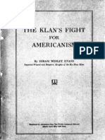 Evans Hiram Wesley - The Klan's Fight for Americanism