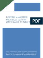 Responsi Manajemen Organisasi & Sumber Daya Manusia (Studi Kasus