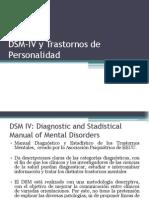 1º Clase DSM-IV y Trastornos de Personalidad