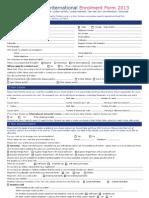 St Giles Enrolment Form 2013