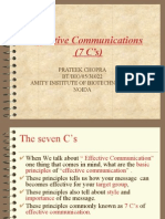 presentation on  Seven Cs