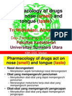 K46 Pharmacology of Drugs Act on Smell Dan Taste
