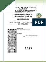 Aplicación de la Estadística en la Climatología
