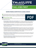 Terry McAuliffe's Platform for Virginia - Putting Jobs First