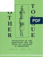 Mother Tongue Newsletter 13 (April 1991)