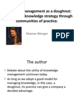 Knowledge Management as a Doughnut