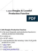 Cobb-Douglas & Leontief Production Function