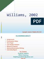 Williams, 2002 Solution