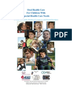 Oral Health Care for Children With Special Health Care Needs
