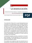 Articulo La Deseducacion; Comunicacion de Masas Y Control Ideologico en Las Sociedades Globalizadas.