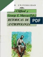 Clifford James y Marcus George E Eds Retoricas de La Antropologia