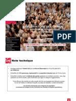 Observatoire de l'opinion - Les cotes de popularité de l'exécutif - Juillet 2013