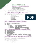 Education New Syllabus 11th