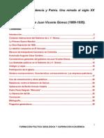 Historia, Independencia y Patria. Una mirada al siglo XX venezolano.doc