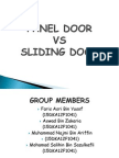Panel Door vs Sliding Door hahahaha