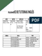 HORARIO DE TUTORIAS INGLÉS
