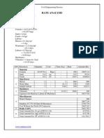 civil engineering-Rate Analysis