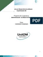 DABD Unidad 1. Fundamentos de La Admnistracio n de Bases de Datos