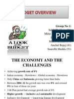 BUDGET OVERVIEW 2013