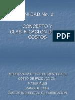 Unidad No. 2-4-c Clasificacion de Los Costos