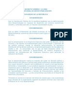 Ley General Descentralizacion