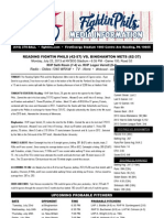 072213 Reading Fightins Game Notes
