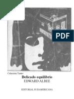 Albee, Eduard - Delicado Equilibrio