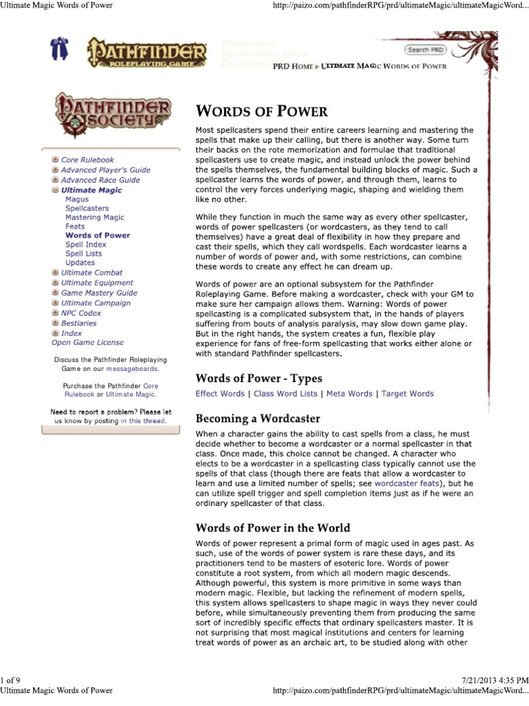 Ultimate Magic Words of Power | Fantasy Role Playing Games | Wizards